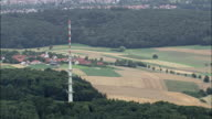 Communications Tower - Aerial View - Baden-Württemberg,  helicopter filming,  aerial video,  cineflex,  establishing shot,  Germany video
