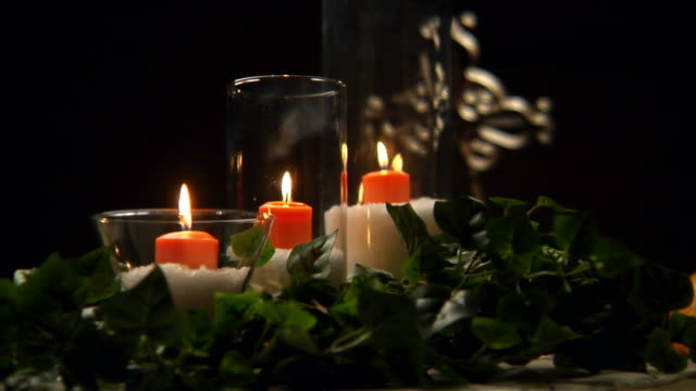 Communion Candles Static in HD video