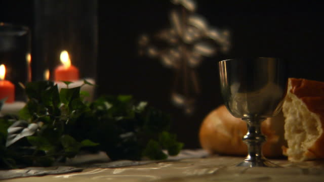 Communion Cup Close Up in HD video