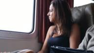Commuter on train video
