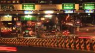 Commuter Traffic Congestion City Street Night Traffic Rush Hour Time Lapse video