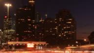 Commuter Traffic Congestion City Street Night Traffic Rush Hour video