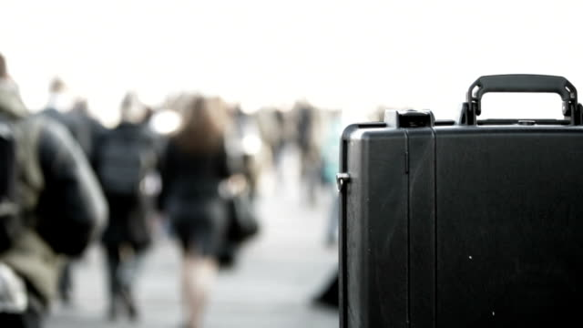 commuters: city briefcase. video
