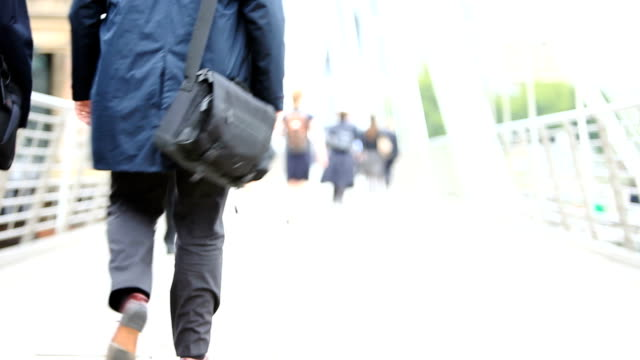 commuters: city strollers off to work video