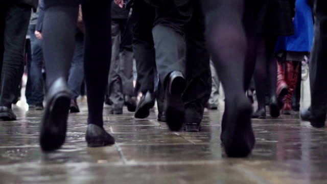 Commuters following legs          COM video