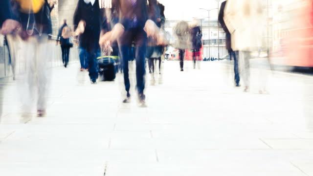 Commuters in London video