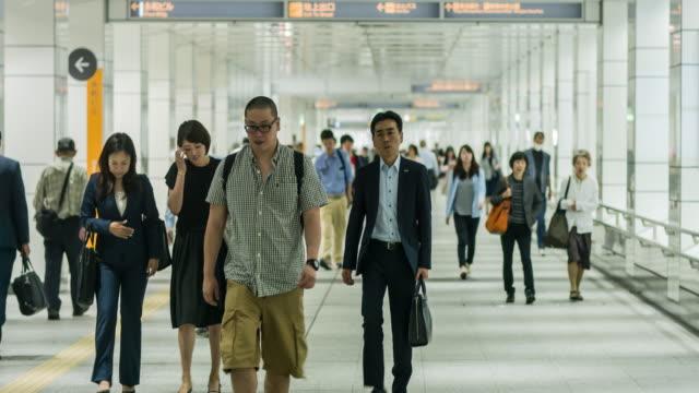 Commuters in Nishi-Shinjuku, Tokyo, Japan video