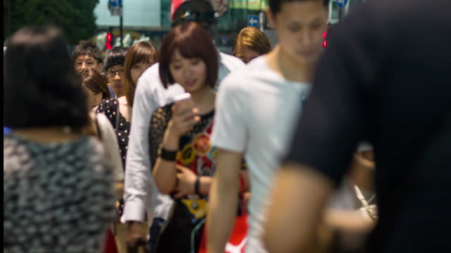 Commuters in Shibuya video