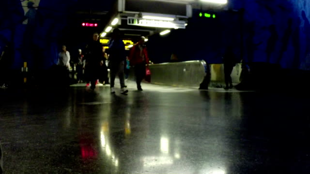 Commuters in Stockholm video