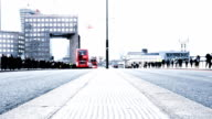 commuters: rush hour on London Bridge video