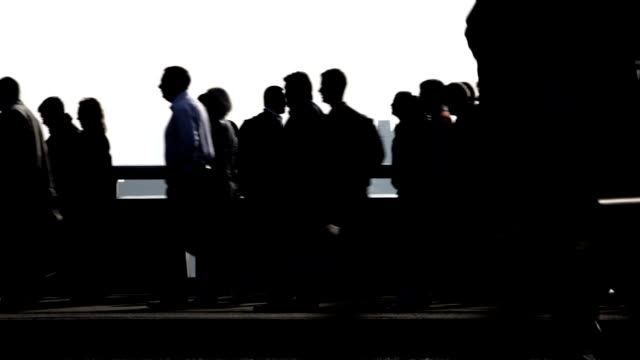 commuters: silhouettes video