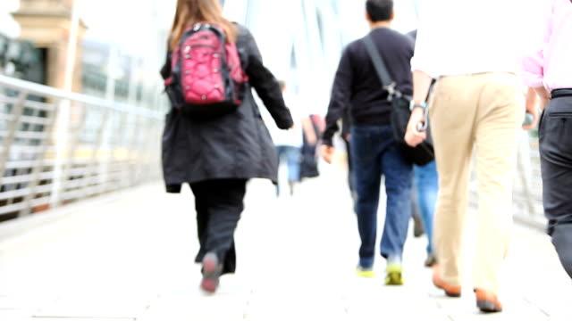 commuters: workers walking video