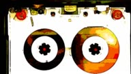 ANIME: compact cassette very vintage tape recorder [009] video