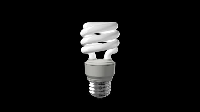 Compact Fluorescent Light Bulb Off video