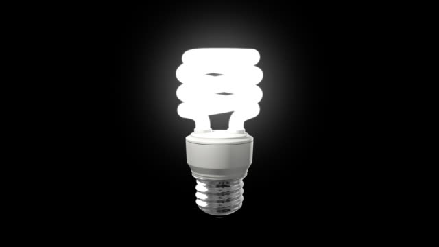 Compact Fluorescent Light Bulb On video