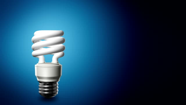 Compact Fluorescent Lightbulb Background video