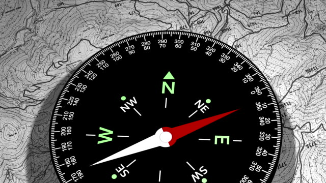 Compass, a device used to determine geographic direction video