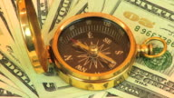 Compass & Money Rotating HD video