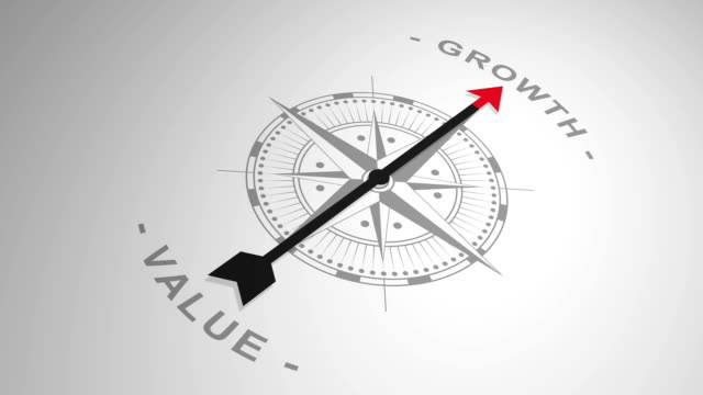 compass pointing out the word 'growth' video