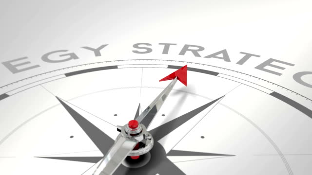 Compass pointing to strategy video
