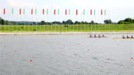 competition in rowing. video