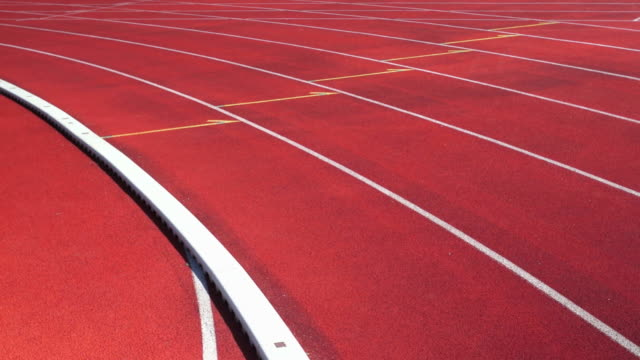 Competitive Runners On Track video