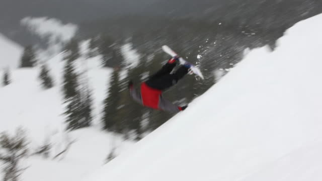 Compilation of snowboard crashes video