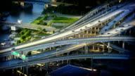 Complex road junction video