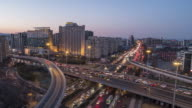 T/L WS HA TD Complex transportation System, Day to Night Transition / Beijing, China video