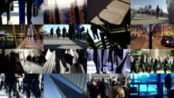 Composite commuters in the city             COM video