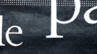 Composite newspaper texture. video