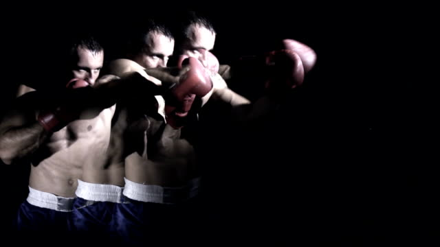 HD SUPER SLOW MO: Composite Shot Of Boxing video