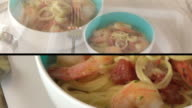 Composite Spaghetti Shrimp HD video