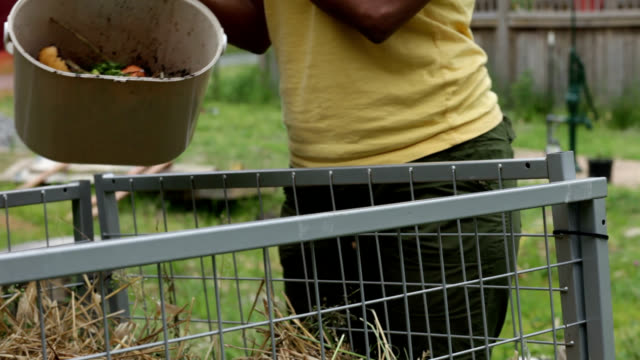 Composting. video
