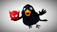 Computer animation - Fun bird video