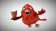 Computer animation - Red bird video