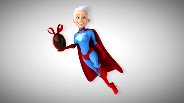 Computer animation - Super woman video