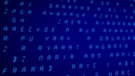 Computer display with animated letters video