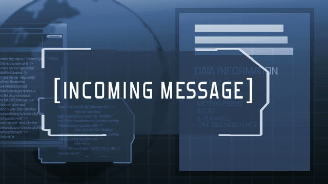 Computer incoming message (blue) video