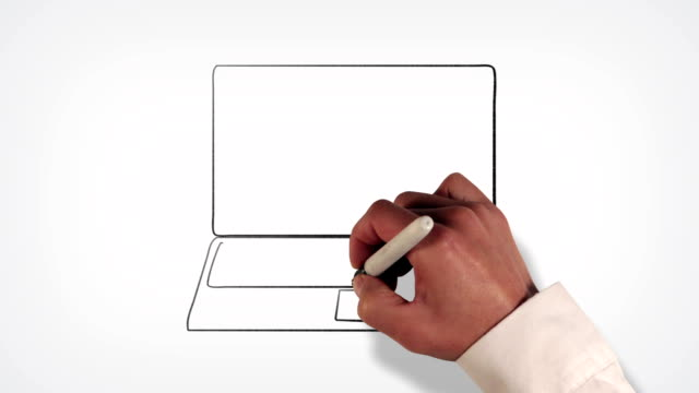 Computer Laptop Whiteboard Stop-Motion Style Animation video