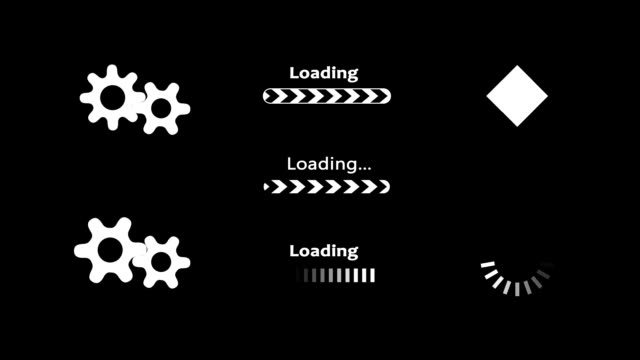 Computer loading animation video