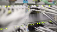 Computer Network Server Operating Close-up (4K/UHD) video