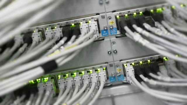 Computer Network Server Operating Close-up video