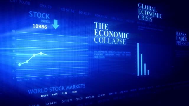 Computer screen simulation - Financial data video