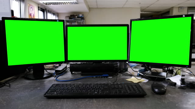 Computer with green screen video