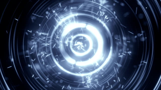 Concentric circles and particles seamless loop animation video