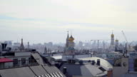 Concept Moscow Kremlin Panorama Aerial View and Next Street Zoom out video