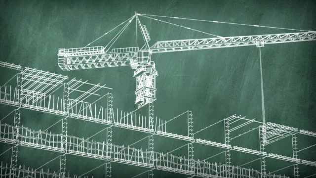 Concept of a building area at school board video