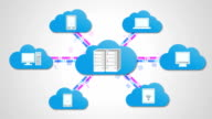 Concept of Cloud to cloud server.chart video