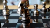 concept of playing silver chess video